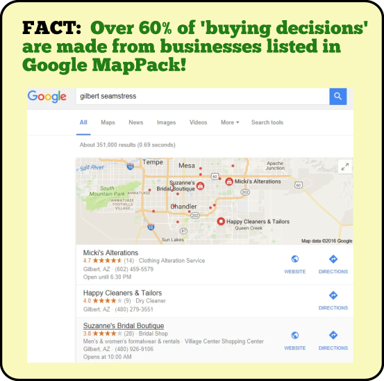 MapPack Business Listing